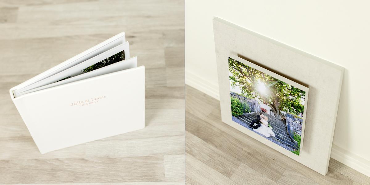 Fotoprodukt bröllopsfotografering