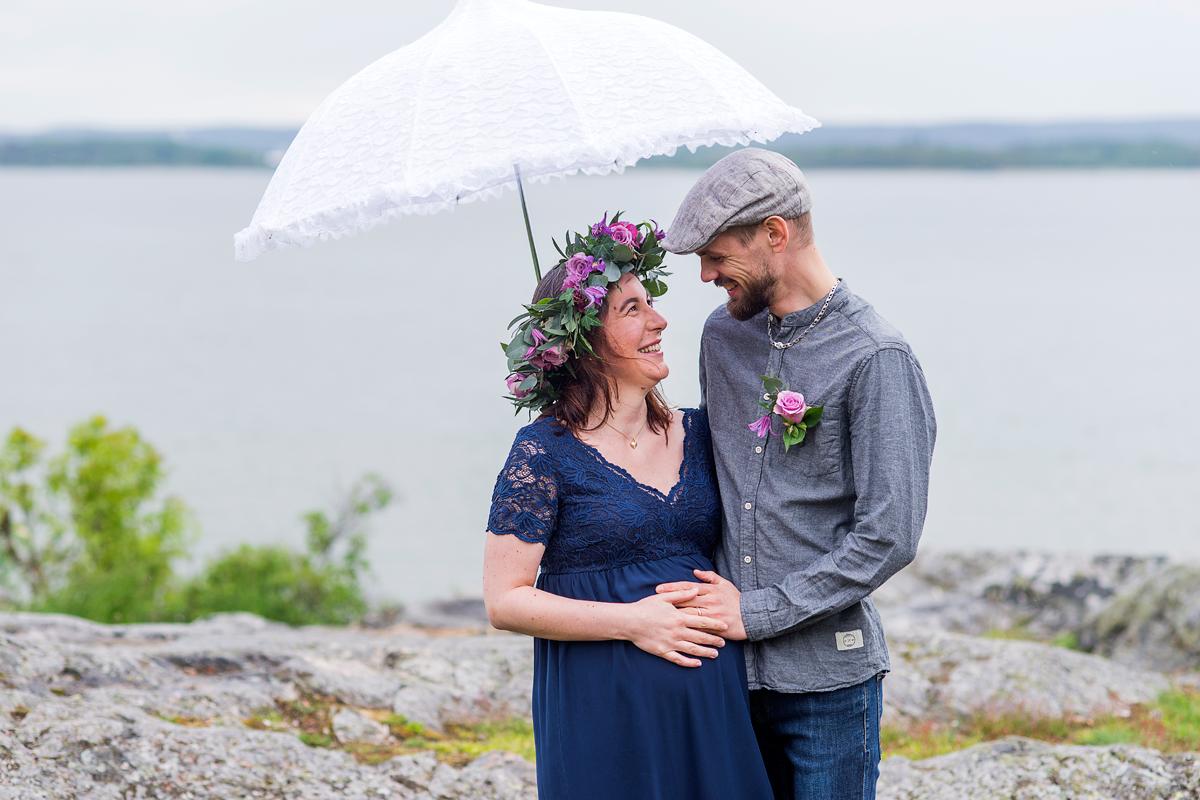 Gravidfotografering Norrköping – Cecilia & Jonas